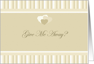 Give Me Away Wedding Textured Monotone Beige Design card
