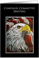 Campaign Committee Meeting Political Events Invitation card
