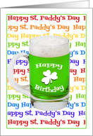 Green Beer Birthday on St Paddys Day card