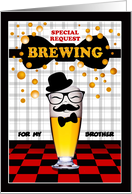 Custom Front Beer Theme Best Man Invitation card