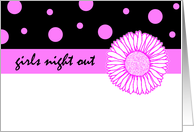 Girls Night Out Flower card