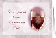 Engagement Party Invitation Hands in Wine Glass card