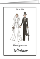 Bride & Groom Minister Wedding Thank You card