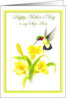 For Step Mom Hummingbird Mother's Day Card
