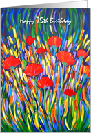 75 Years Old Happy Birthday Poppies card