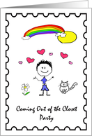 Sunshine & Rainbows Coming Out Party Invitations card