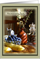 Housewarming Party Invitations Fruit Still Life card