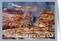 Cook Out Barbeque Invitation card