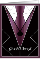 Wine Pinstripe Give Me Away? Cards