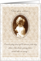 Junior Bridesmaid Invitation Sepia Antique Girl card