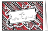 Elegant Will You Walk Me Down The Aisle? Wedding Attendant Invitations card