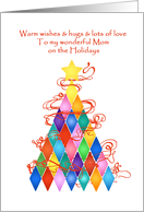 For Mom Tree of Many Colors Christmas Card