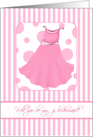 Fun Stripes & Polkadots Will You be My Jr. Bridesmaid? Wedding Attendant Invitations card