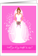 Blushing Bride Will you be my Mother In Law? Invitations Greeting Cards