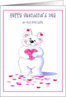 Big Bear Hugs For Grandpa On Valentine's Day Greeting Cards