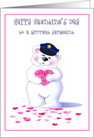 Police Officer- Sergeant On Valentine's Day Greeting Cards