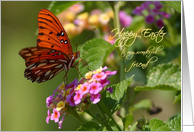 Butterfly Floral Happy Easter Friend Paper Greeting Cards