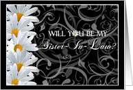 Daisy Floral Sister In Law Invitations Paper Greeting Cards