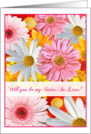 Happy Floral Bouquet Sister In Law Invitations Paper Greeting Cards