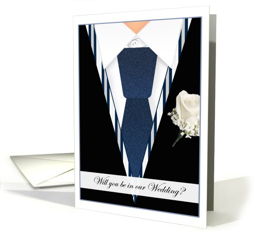 Tux Be In Our Wedding Wedding Invitations Paper card (411168)