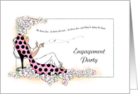 DayDreaming Bride Engagement Party Invitations Wedding Attendant Cards Paper Greeting Cards
