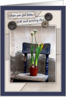 Rustic Chair and Floral Get Well card