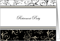 Classic Deco Retirement Party Invitations Paper Greeting Cards