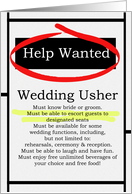 Humorous Wedding Usher Invitations Help Wanted Ad Cards
