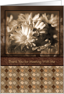 Antique Floral Business Thank You Cards For Meeting With Me card