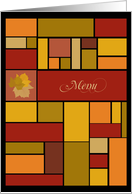Colors of Fall Menu Cards