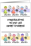 Cancer Patient Congratulations on Last Chemo Treatment card