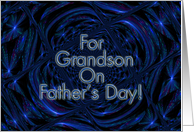For Grandson On Father's Day! - Verse Inside card