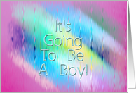 It's Going To Be A Boy! - Verse Inside card