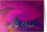 Colorful Abstract - Thank You Card