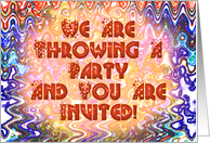 Throwing A Party - Invitation card