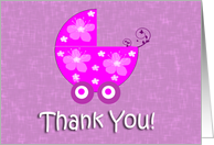 Baby Stroller General Thank You Card