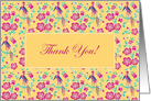 Sakura Floral Batik Thank You Card