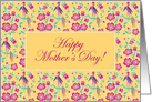 Sakura Floral Batik Mother's Day Card