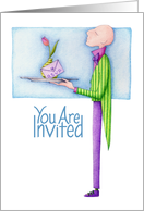 Butler Invitation card