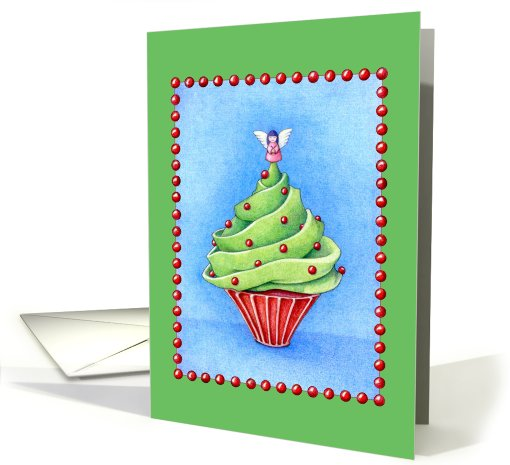 Christmas Tree Cupcake green card (507727)