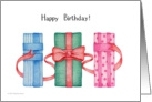 GIfts Happy Birthday card
