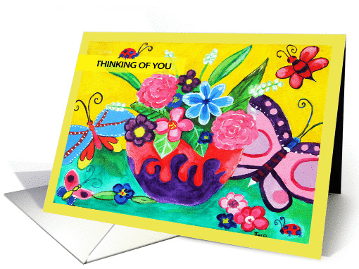 Butterflies & Ladybugs Thinking Of You card (909690)