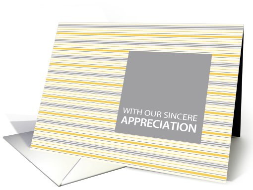 Amber Stripe Employee Appreciation card (918246)