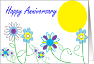 12 Step Recovery Flower recovery anniversary card