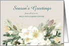 Botanical Watercolor Floral Corporate Holiday Greetings From All of Us card