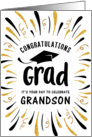 Graduation Congratulations Grandson with Festive Streamers card