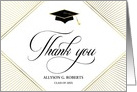 Blank Graduation Thank You Elegant Art Deco White card