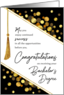 Graduation Congratulations Bachelor's Degree Faux Tassel Gold Confetti card