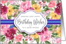 Happy Birthday for Friend Watercolor Peonies card