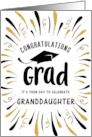 Graduation Congratulations Granddaughter with Festive Streamers card